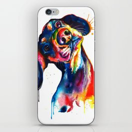 Puppy Splatter Dog Watercolor Paint iPhone Skin