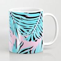 palm tree Mugs featuring Palm tree by Hanna Kastl-Lungberg