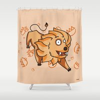 leo Shower Curtains featuring Leo by Giuseppe Lentini
