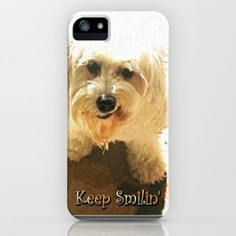 Keep Smilin' Poster iPhone Case