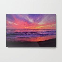 Pinky Purple Sky of Hope Metal Print