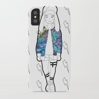 holographic iPhone & iPod Cases featuring Bunny Belle / Holographic by Millicent A Venton