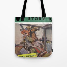 Street & Smith's Western Story - February 1941 Tote Bag