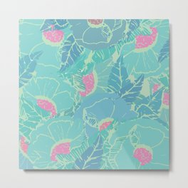 Turquoise & Tropical Metal Print