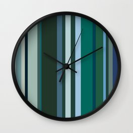 Stripes in colour 9 Wall Clock