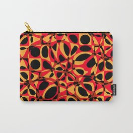 orange red circle pattern Carry-All Pouch