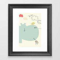 Hippy Hippo Framed Art Print
