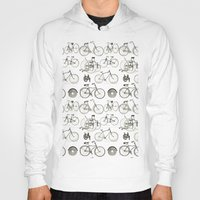 bicycles Hoodies featuring Vintage Bicycles by Thinx Shop