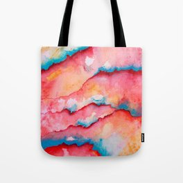 Red Layers Abstract Colours Tote Bag