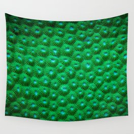 Green Curl Polyps Wall Tapestry