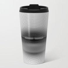 Halftone Lips Metal Travel Mug