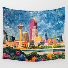 San Antonio Celebration Wall Tapestry