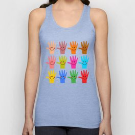 Happy Hands Unisex Tank Top