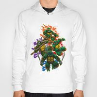 teenage mutant ninja turtles Hoodies featuring Teenage Mutant Ninja Turtles by Magik Tees