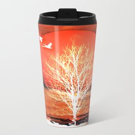 Sun in red Travel Mug