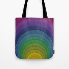 Rainbow circles Tote Bag