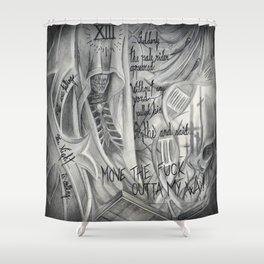 Necromancer's assasin Shower Curtain