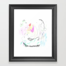 abstract whale Framed Art Print