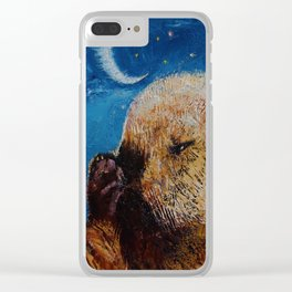 Sea Otter Pup Clear iPhone Case