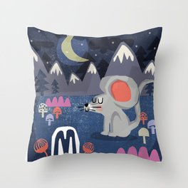 """M"" Throw Pillow"