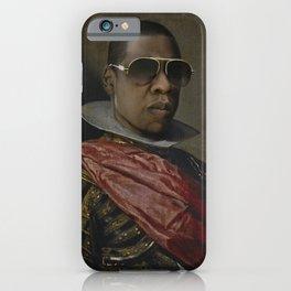 Portrait of Jay Z in Armor iPhone Case