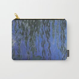 Water Lilies and Weeping Willow Branches by Claude Monet Carry-All Pouch