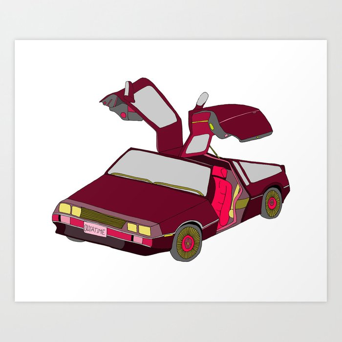 cool girls like flying cars Art Print