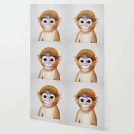 Baby Monkey - Colorful Wallpaper