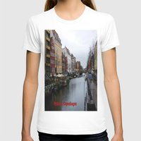 copenhagen T-shirts featuring Nyhavn, Copenhagen  by Created by Eleni