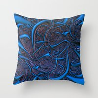 nightmare Throw Pillows featuring Nightmare by Lyle Hatch