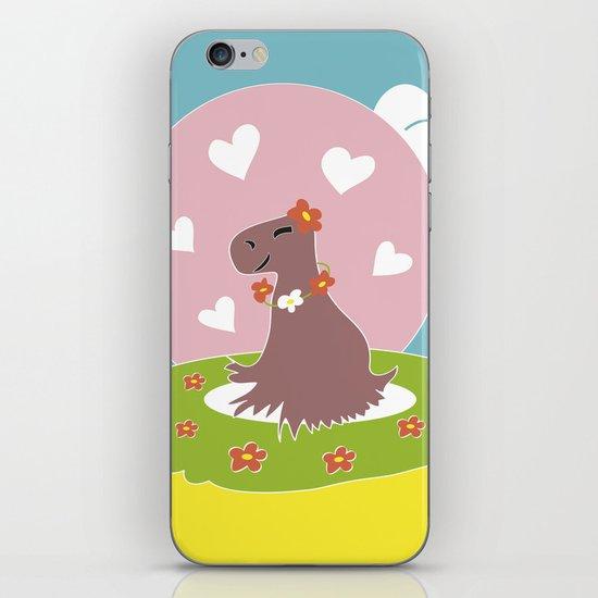 Capybara in Love iPhone & iPod Skin