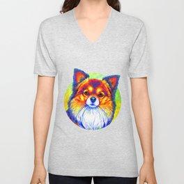 Small and Sassy - Rainbow Chihuahua Dog Unisex V-Neck