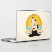 oklahoma Laptop & iPad Skins featuring Miss Oklahoma by keith p. rein