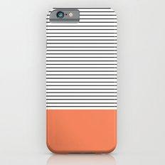 MINIMAL Orange Stripes iPhone 6 Slim Case