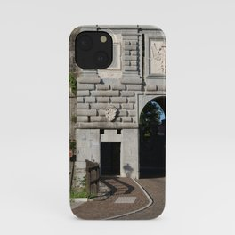 Gorizia, Italy. The castle. It stands between the walls of the ancient village, what medieval sources cite as Upper Land. Friuli Venezia Giulia. Sunny spring afternoon day. iPhone Case