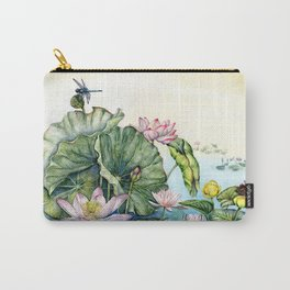 Japanese Water Lilies and Lotus Flowers Carry-All Pouch