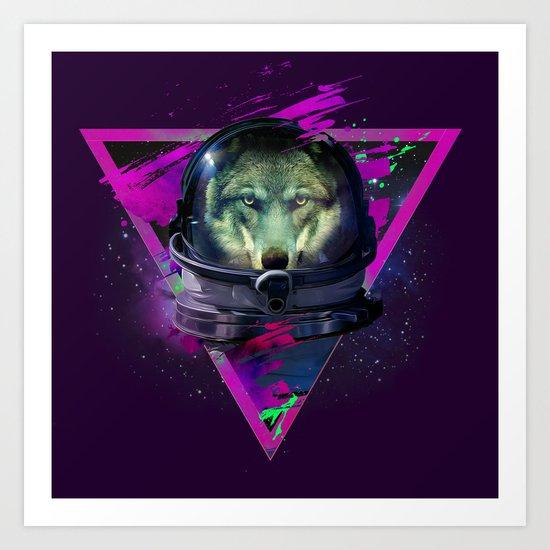 Lonely Astronaut Art Print