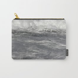 Roiling in Almost Black and White Carry-All Pouch