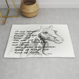 White Horse of a King Rug