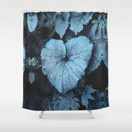 Blue Blue Heart Shower Curtain