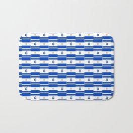 Mix of flag: Israel and Argentina Bath Mat