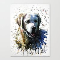 labrador Canvas Prints featuring Labrador by KOSTART