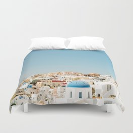 View of Santorini Island Greece Oia Duvet Cover
