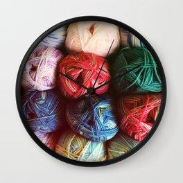 Balls of Yarn Wall Clock