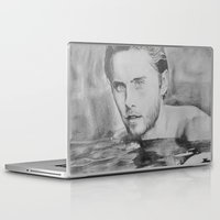 jared leto Laptop & iPad Skins featuring Jared Leto on water  by Jenn