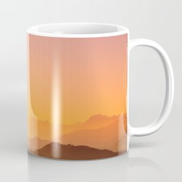 colorful autumn sunset in the italian countryside Coffee Mug