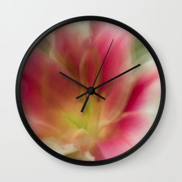 Abstract Pink, Yellow, White Lily-Fleur Blur Series Wall Clock
