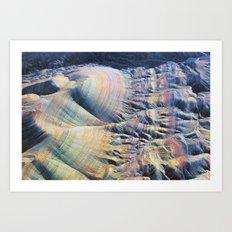 Evening Flight Over the Martian Lines Art Print
