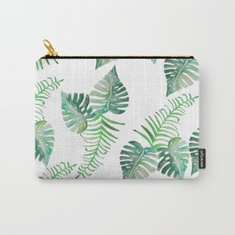 Keep Growing. Monstera Watercolor. Carry-All Pouch