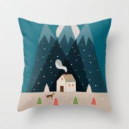 Winterworm Throw Pillow
